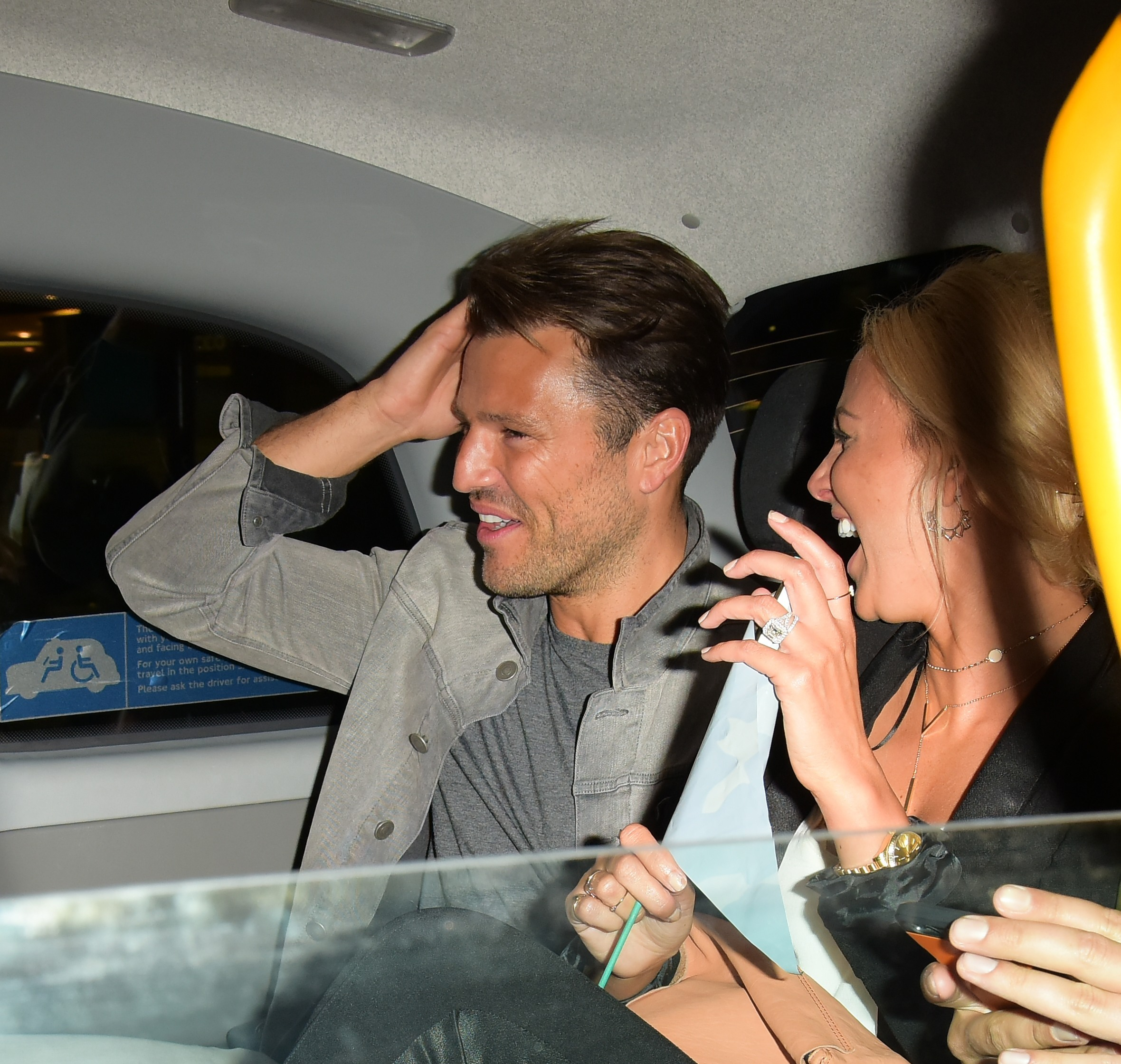 Picture Shows: Mark Wright, Michelle Keegan September 01, 2016 Michelle Keegan and Mark Wright go to Mahiki during a night out after attending a screening at the Mayfair Hotel in London with friends. Michelle was looking stylish in a black pantsuit which she accessorised with nude heels and a peach coloured clutch. Non Exclusive WORLDWIDE RIGHTS Pictures by : FameFlynet UK © 2016 Tel : +44 (0)20 3551 5049 Email : info@fameflynet.uk.com
