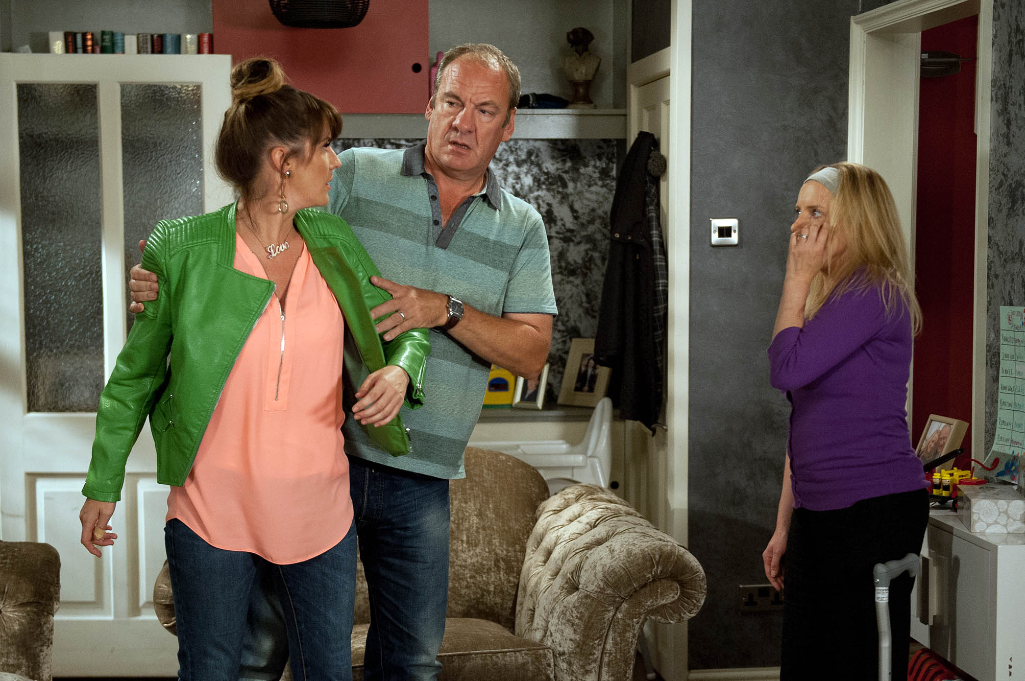 FROM ITV STRICT EMBARGO - NO USE BEFORE TUESDAY 30 AUGUST 2016 Emmerdale - 7608 Tuesday 6th September 2016 Dan and Nicola King [NICOLA WHEELER] attempt to heal their relationships. But when Dan admits to Kerry Wyatt [LAURA NORTON], Nicola made the pass at him, Kerry heads to confront her. Kerry slaps Nicola and balls her fist for another attack but hesitates in the face of Nicola's disability. Nicola explains to Jimmy King [NICK MILES] how she's recently felt like his patient, not his wife. Picture contact: david.crook@itv.com on 0161 952 6214 Photographer - Amy Brammall This photograph is (C) ITV Plc and can only be reproduced for editorial purposes directly in connection with the programme or event mentioned above, or ITV plc. Once made available by ITV plc Picture Desk, this photograph can be reproduced once only up until the transmission [TX] date and no reproduction fee will be charged. Any subsequent usage may incur a fee. This photograph must not be manipulated [excluding basic cropping] in a manner which alters the visual appearance of the person photographed deemed detrimental or inappropriate by ITV plc Picture Desk. This photograph must not be syndicated to any other company, publication or website, or permanently archived, without the express written permission of ITV Plc Picture Desk. Full Terms and conditions are available on the website www.itvpictures.com