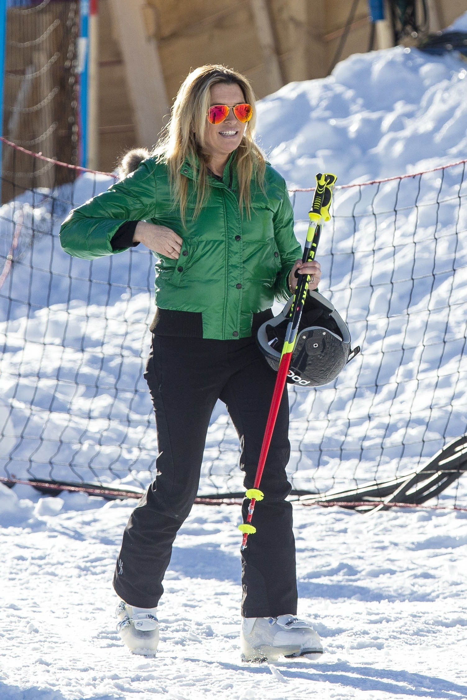 Picture Shows: Tina Hobley 1st February, 2016 **Min Fee £200** Celebrities are seen training for reality television show 'The Jump' in Austria, with some disastrous results. 'The Only Way Is Essex' star James 'Arg' Argent fell over in the snow despite assistance from 'Superman' Dean Cain, and Tom from the band The Wanted was seen with a bandaged hand; just two days ahead of the live show. **Min Fee £200** Pictures by : FameFlynet UK © 2016 Tel : +44 (0)20 3551 5049 Email : info@fameflynet.uk.com
