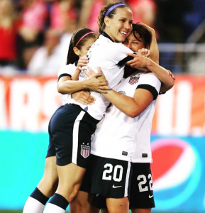 Lauren playing for U.S. national team