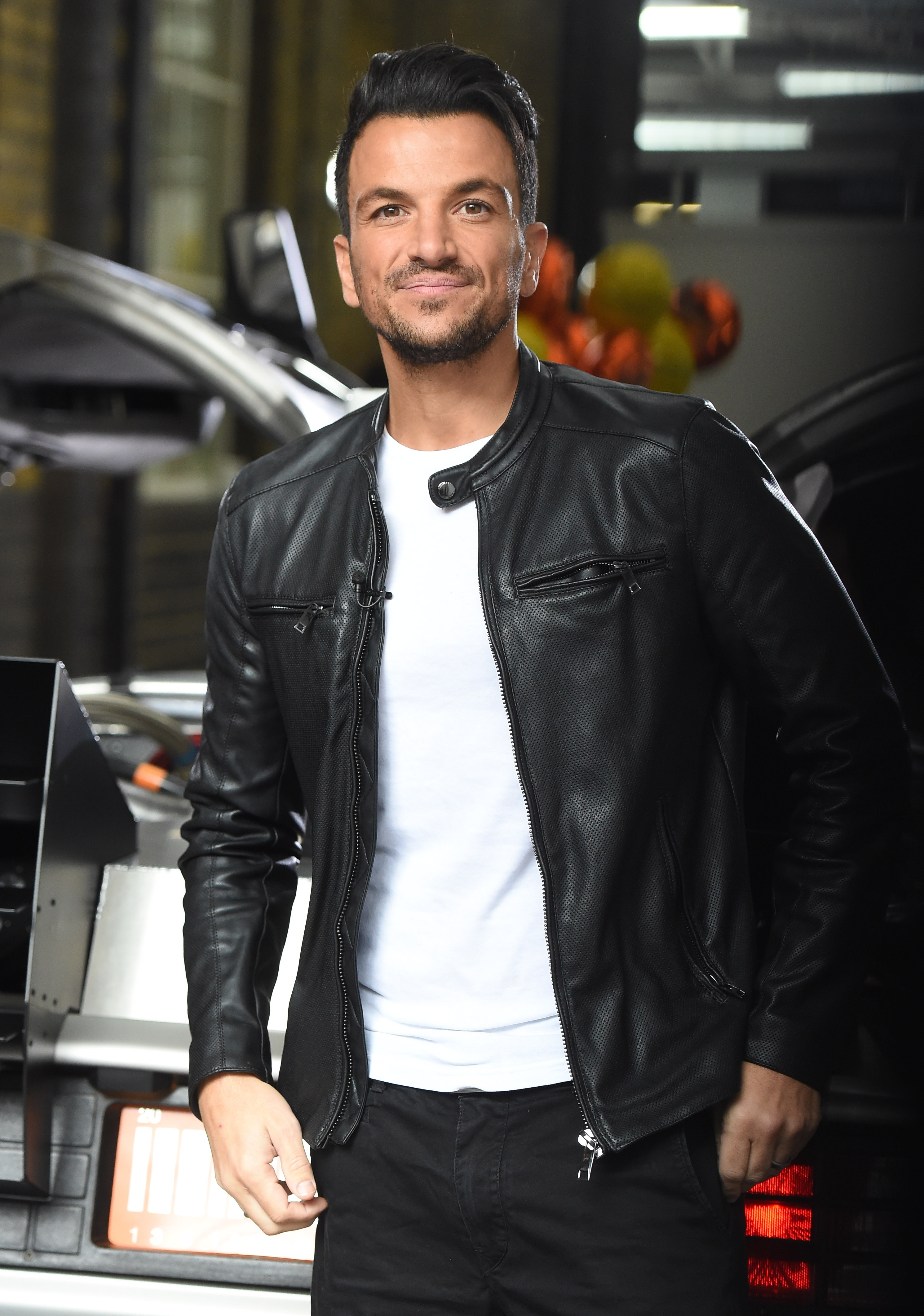 Picture Shows: Peter Andre October 20, 2015 Celebrities seen at the ITV studios in London, UK. Guests took the chance to pose with the DeLorean car parked in the ITV studios garage in celebration of the upcoming 'Back To The Future' day. Non-Exclusive WORLDWIDE RIGHTS Pictures by : FameFlynet UK © 2015 Tel : +44 (0)20 3551 5049 Email : info@fameflynet.uk.com