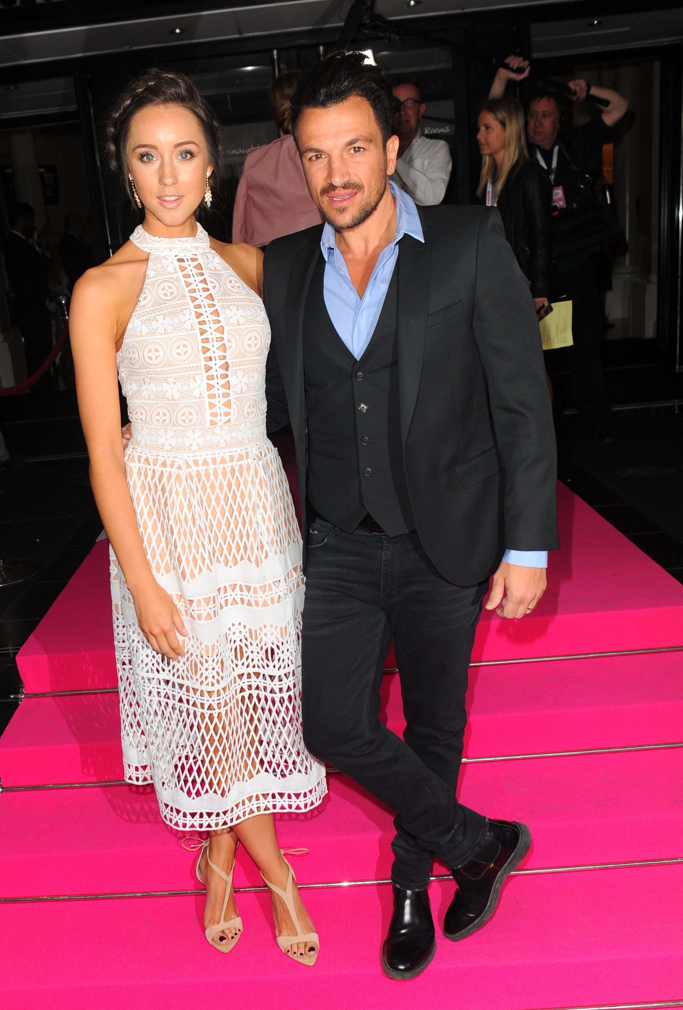 Picture Shows: Peter Andre, Emily MacDonagh May 17, 2016 Peter Andre and Emily MacDonagh arrive at The Connaught Rooms for the Lorraine High Street Fashion Awards in London, England. Non-Exclusive WORLDWIDE RIGHTS Pictures by : FameFlynet UK © 2016 Tel : +44 (0)20 3551 5049 Email : info@fameflynet.uk.com