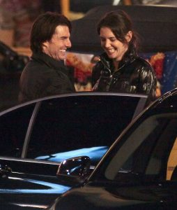 January 7th, 2011 American Actor Tom Cruise, Katie Holmes and their daughter Suri Cruise on the set of 'Mission Impossible 4: Ghost Protocol' in Vancouver, Canada. Katie and Suri came by to visit Tom while he was working on a night shoot. Non-Exclusive UK RIGHTS ONLY Pictures by : Flynet © 2011 Tel : +44 20 7510 9535 Email : info@flynetpictures.co.uk JKing/Nigel/Flynetpictures.com