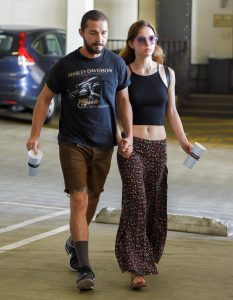 Picture Shows: Shia LaBeouf, Mia Goth October 13, 2015 On again off again couple Shia LaBeouf and Mia Goth are spotted walking hand in hand after enjoying lunch at Mendocino Farms in Sherman Oaks, California. It looks like the pair have rekindled their relationship after Shia's most recent arrest in texas. Exclusive - All Round UK RIGHTS ONLY Pictures by : FameFlynet UK © 2015 Tel : +44 (0)20 3551 5049 Email : info@fameflynet.uk.com