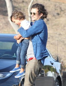 Picture Shows: Flynn Bloom, Orlando Bloom June 14, 2014 'The Hobbit' actor Orlando Bloom and his mini-me son, three year-old Flynn, are seen visiting a friend's house in Malibu, California.  The genetically-blessed toddler recently made his modeling debut alongside his mother Miranda Kerr in the Australian version of Vogue. Orlando and Miranda announced their separation last October after marrying in 2010. Non Exclusive UK RIGHTS ONLY Pictures by : FameFlynet UK © 2014 Tel : +44 (0)20 3551 5049 Email : info@fameflynet.uk.com