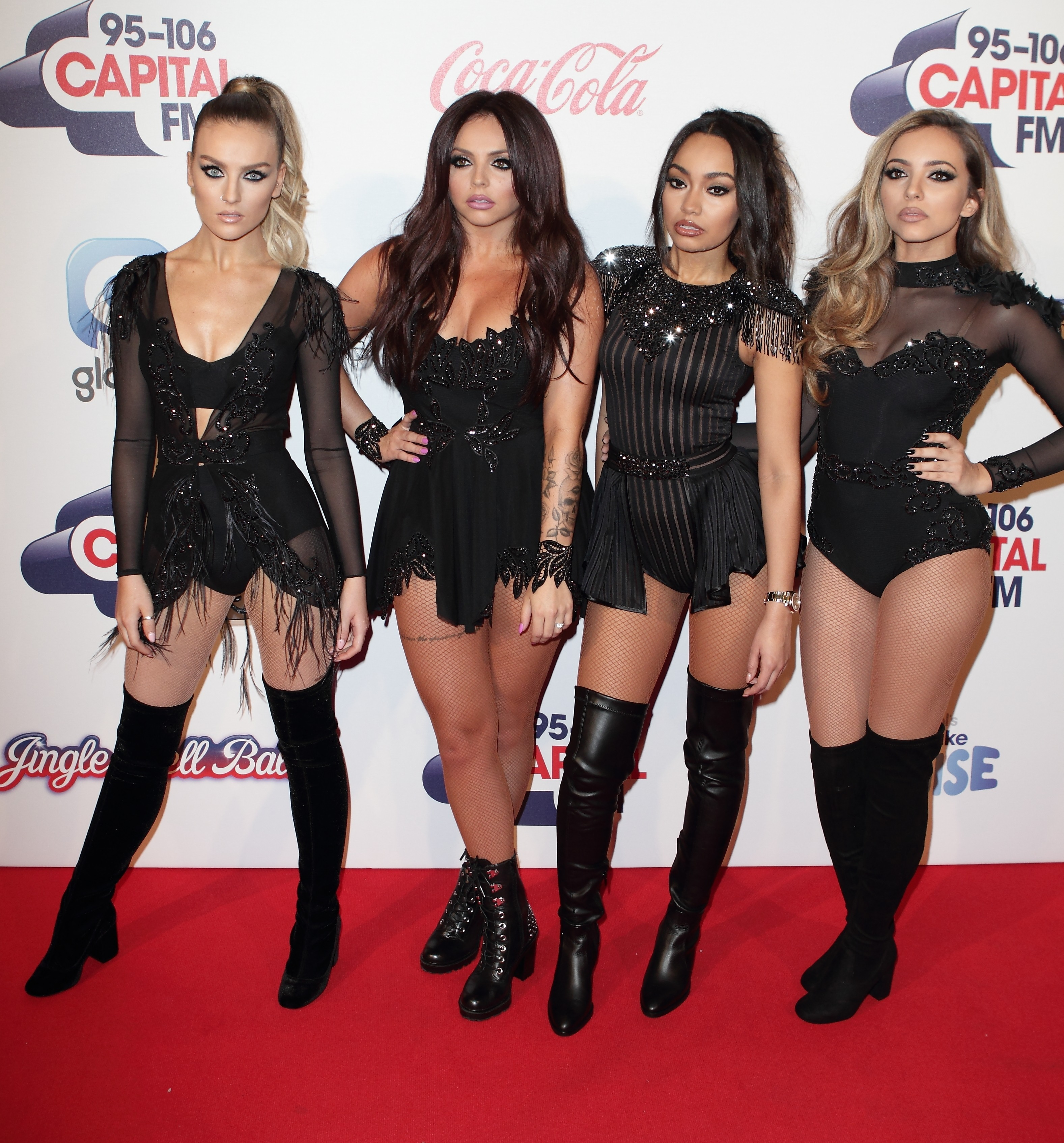 Picture Shows: Perrie Edwards, Jesy Nelson, Leigh-Anne Pinnock, Jade Thirlwall, Little Mix December 06, 2015 Celebrities arrive on the red carpet to attend the Capital FM Jingle Bell Ball, held at the O2 Arena in Greenwich, London. Non Exclusive WORLDWIDE RIGHTS Pictures by : FameFlynet UK © 2015 Tel : +44 (0)20 3551 5049 Email : info@fameflynet.uk.com