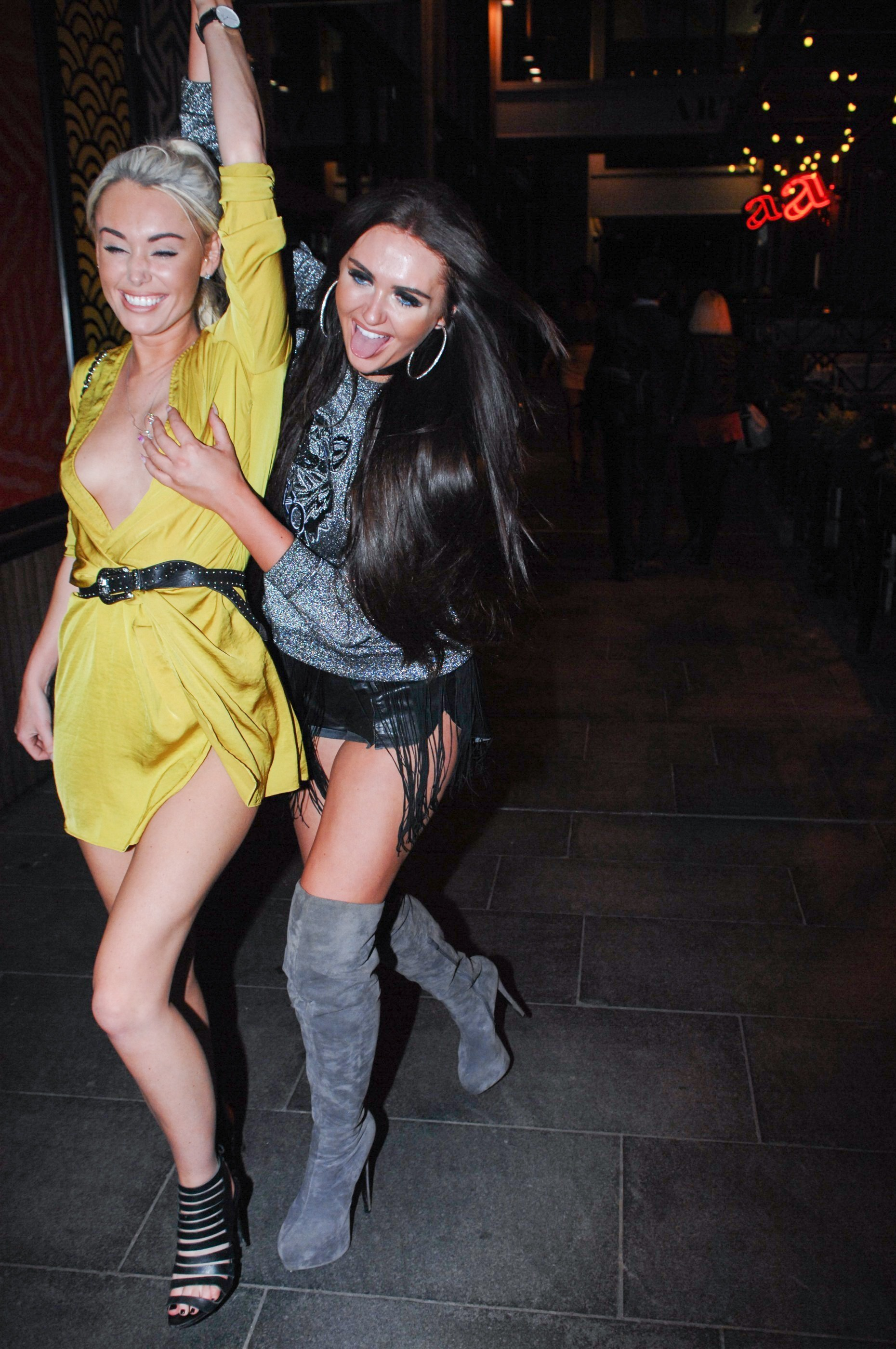 Picture Shows: Steph Ledigo, Charlotte Dawson September 08, 2016 'Ex On The Beach' star Charlotte Dawson arrives at Neighbourhood Bar And Restaurant in Manchester, England. Charlotte was all laughs as she left the bar with her friend Steph Ledigo. Non-Exclusive WORLDWIDE RIGHTS Pictures by : FameFlynet UK © 2016 Tel : +44 (0)20 3551 5049 Email : info@fameflynet.uk.com