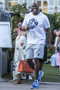 Picture Shows: Magic Johnson July 19, 2016 Magic Johnson was spotted on holiday in Saint Tropez, France. The former NBA star was seen all smiles as he made his way around town. Non Exclusive UK RIGHTS ONLY Pictures by : FameFlynet UK © 2016 Tel : +44 (0)20 3551 5049 Email : info@fameflynet.uk.com