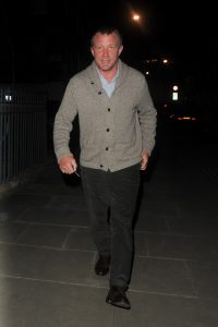 Picture Shows: Guy Ritchie April 18, 2016 Guy Ritchie arrives at Madonna's house with an opened bottle of wine in London, UK. Guy's son Rocco is currently staying with his mother Madonna. Non Exclusive WORLDWIDE RIGHTS Pictures by : FameFlynet UK © 2016 Tel : +44 (0)20 3551 5049 Email : info@fameflynet.uk.com