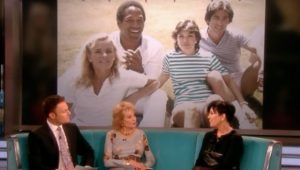Kris Jenner talking about OJ Simpson and her friend Nicole Brown Simpson on The View.