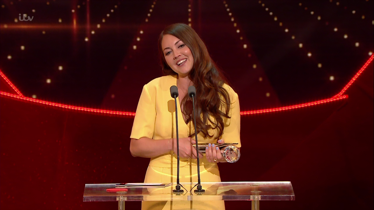 Lacey Turner accepting the Best Female Dramatic Performance award at the 'British Soap Awards 2016', held at the Hackney Empire, London. Broadcast on ITV1 HD. Featuring: Lacey Turner Where: United Kingdom When: 29 May 2016 Credit: Supplied by WENN **WENN does not claim any ownership including but not limited to Copyright, License in attached material. Fees charged by WENN are for WENN's services only, do not, nor are they intended to, convey to the user any ownership of Copyright, License in material. By publishing this material you expressly agree to indemnify, to hold WENN, its directors, shareholders, employees harmless from any loss, claims, damages, demands, expenses (including legal fees), any causes of action, allegation against WENN arising out of, connected in any way with publication of the material.**