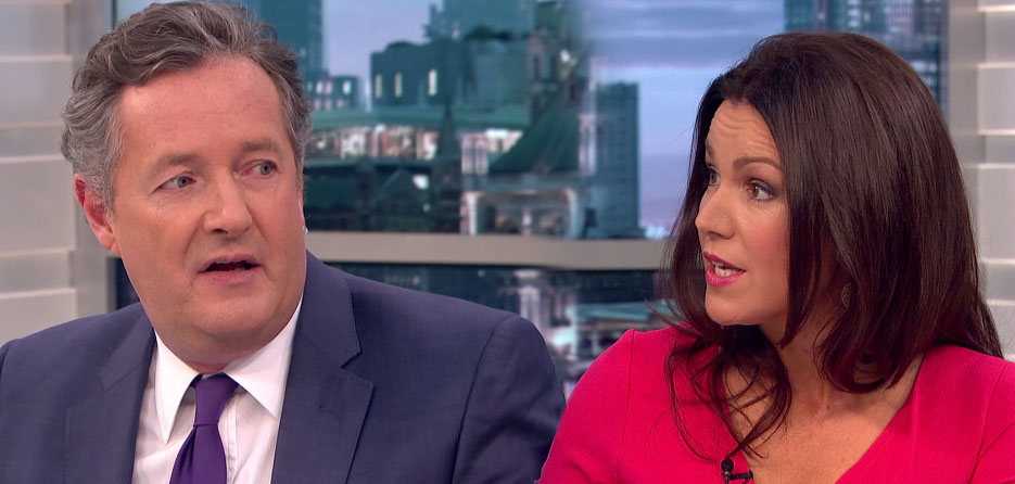 Piers Morgan and Susanna Reid in heated argument over his sexism