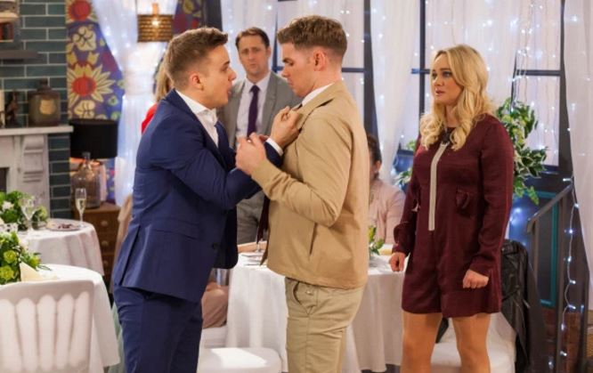 Hollyoaks: Harry LOSES IT when he discovers Ste has cheated