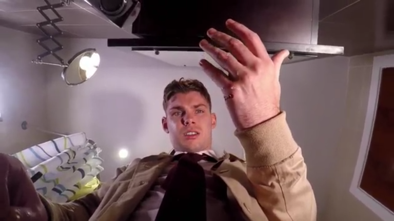 Red-faced Kieron Richardson accidentally reveals Hollyoaks spoiler