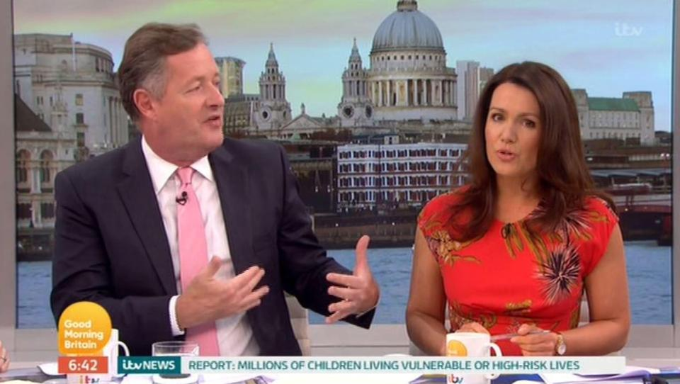 Susanna shuts down Piers over 'cretinous' Love Island tirade
