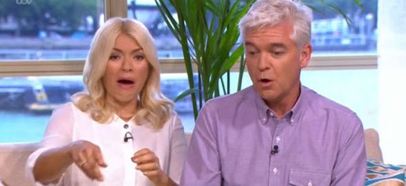 Holly Willoughby and Phillip Schofield have very smelly This Morning guest
