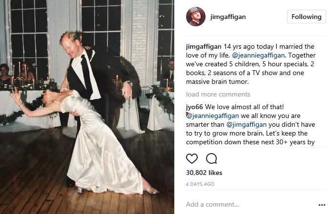 Jim Gaffigan Jokes About Wife S Brain Tumor On Their