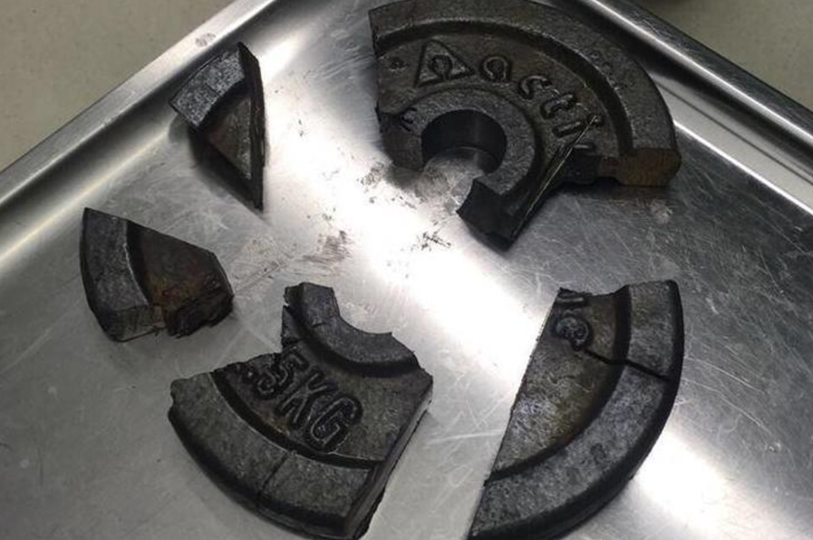 Firefighters use circular saw to rescue man after penis gets stuck in dumbbell