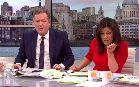 Susanna Reid tells off Piers Morgan for rude comment about Prince Harry and Meghan Markle