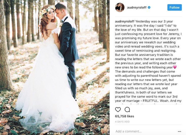 Jeremy roloff reveals his biggest fear about parenting what do you make of audrey and jeremys parenting skills credit instagramaudreyroloff junglespirit Choice Image