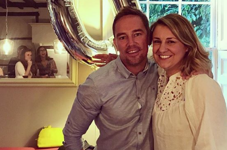 Simon Thomas has teddy bear made from late wife's dressing gown for son