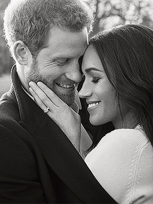 Prince Harry and Meghan Markle released their official engagement portraits on Thursday, Dec. 21, 2017. (Credit: Alexi Lubomirski/Kensington Palace via Twitter)