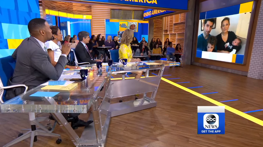 'GMA' Fans Delighted as Ginger Zee's Newborn Son Appears on Show