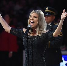 LOS ANGELES, CA - FEBRUARY 18: Fergie sings the National Anhtem prior to the NBA All-Star Game 2018 at Staples Center on February 18, 2018 in Los Angeles, California. (Photo by Kevork Djansezian/Getty Images)