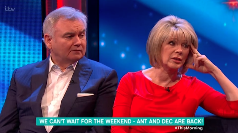 Ruth Langsford ticks off Ant and Dec for disrupting her morning
