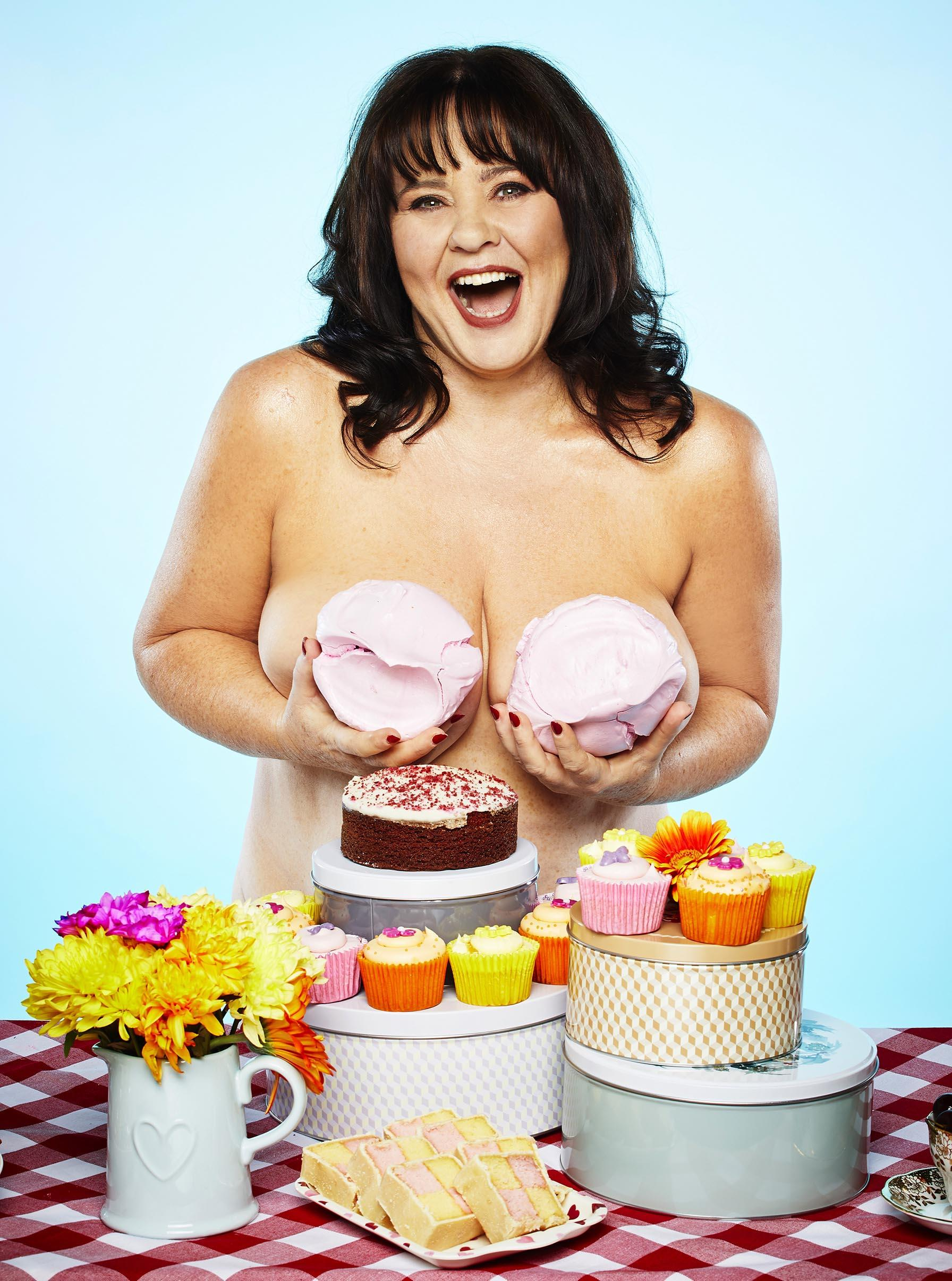 Coleen Nolan and the Real Full Monty line-up pose topless