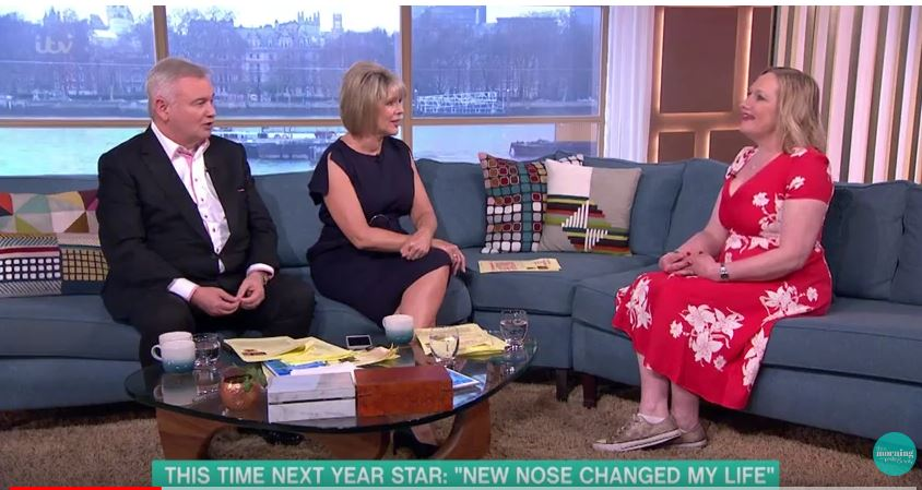 This Morning viewers are left in shock as woman suffering from a rare disease pulls her nose off live on air