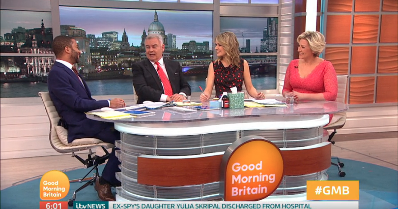 Eamon Holmes walked off Good Morning Britain during coughing incident