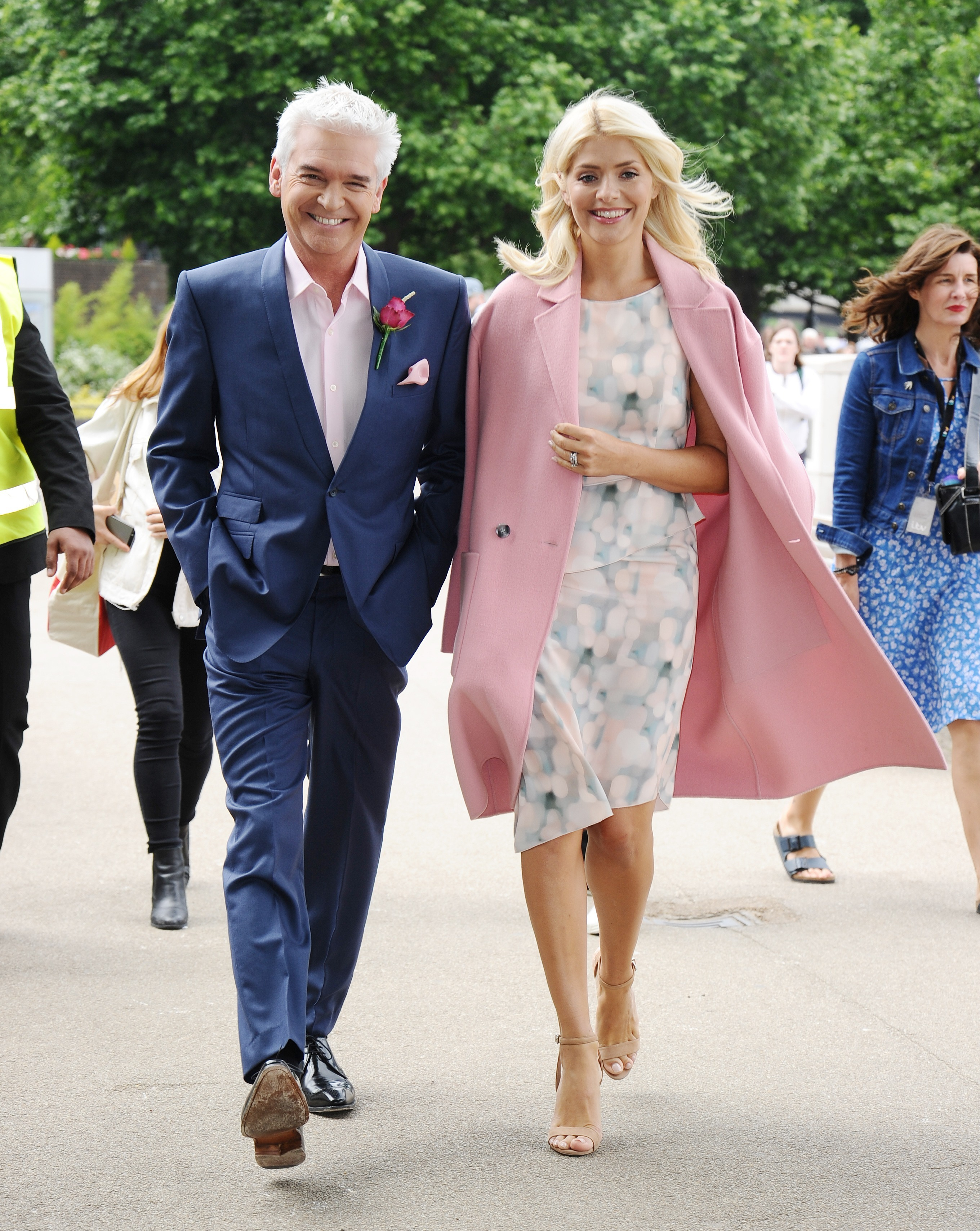 Phillip Schofield With This Morning Co Host Holly Willoughby Filming A Wedding Segment For The Show Last Year Credit Zed Jameson Flynetpictures Uk
