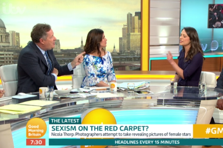 Piers Morgan clashes with Coronation Street's Nicola Thorp in sexism row