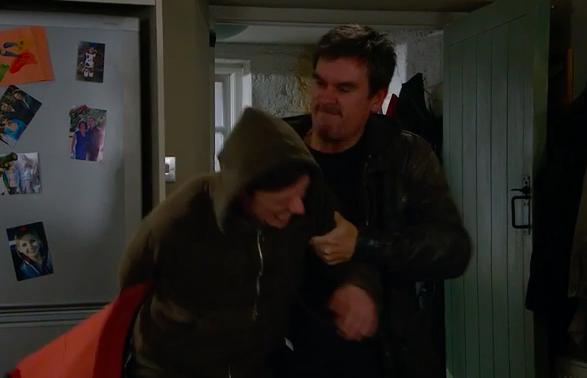 Emmerdale's Cain Dingle attacks Moira Barton's son Matty