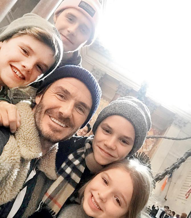 Victoria and David Beckham Mark Anniversary With Lunch, School Race