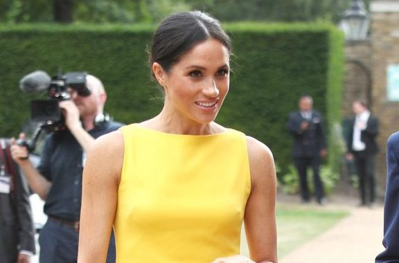 Meghan, Duchess of Sussex swaps neutral colours for bright yellow