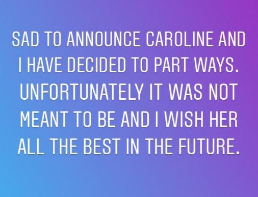 Caroline Flack shuts down speculation over break-up