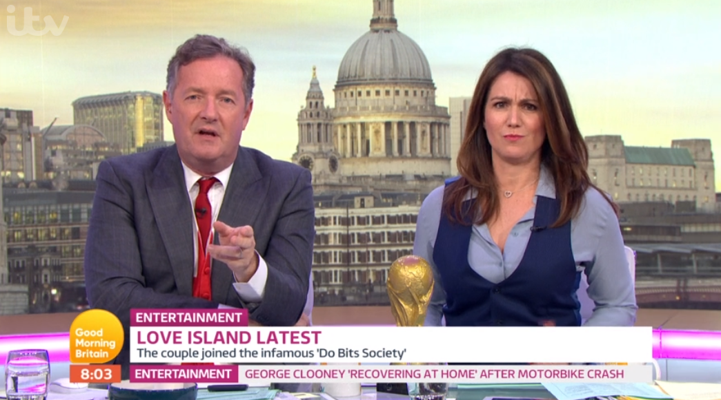 Susanna Reid clashes with Piers Morgan during ANOTHER heated Love Island debate