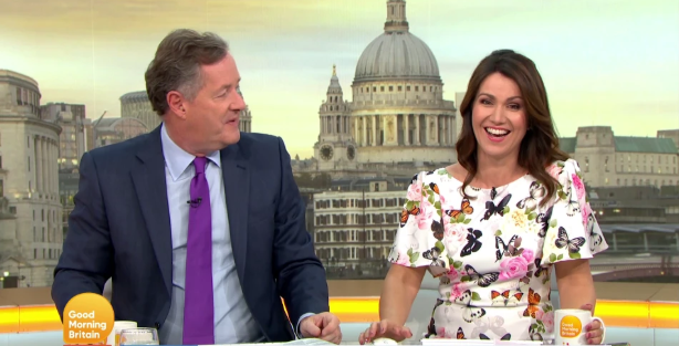 Susanna Reid flustered as Piers Morgan asks intimate question on live TV