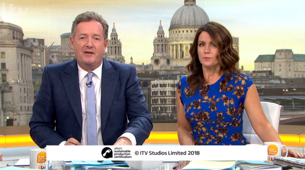 Piers Morgan and Susanna Reid announce Good Morning Britain summer exit