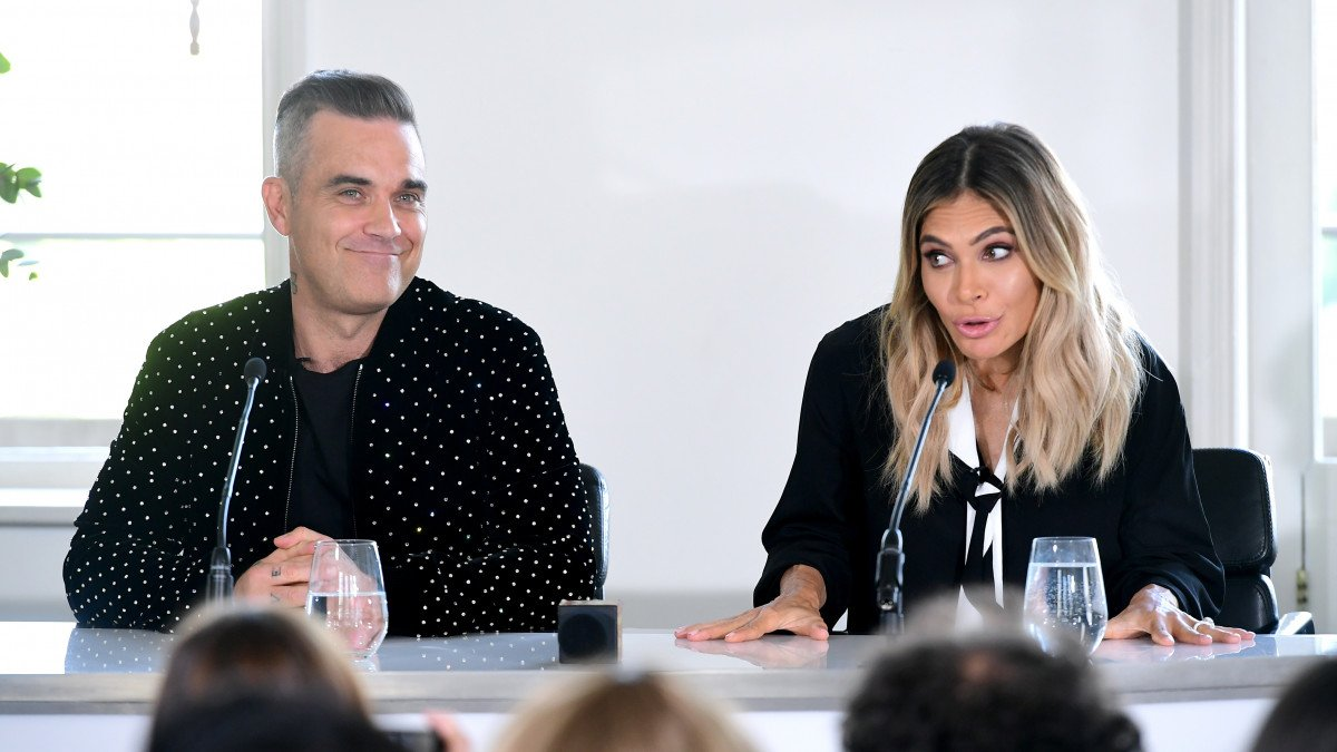Robbie Williams explains wife Ayda's X Factor judging qualifications