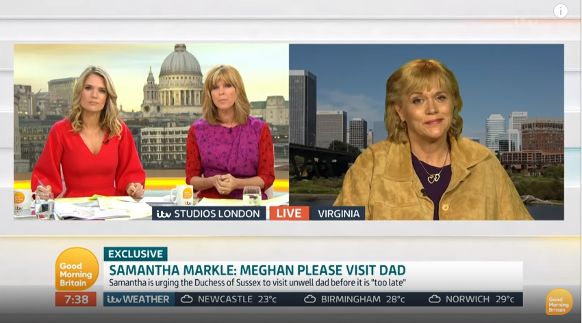 Samantha was a guest AGAIN on GMB