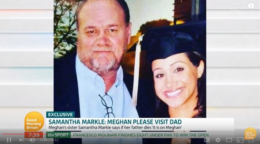 Meghan and her dad have apparently not spoken since her wedding