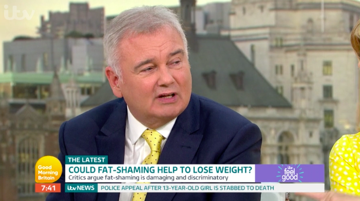 Awkward moment guest confronts Eamonn Holmes about his weight - live on air!