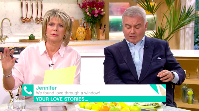 Eamonn makes a cheeky joke to giggly Ruth on This Morning