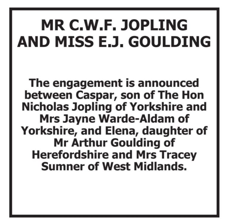 Ellie Goulding announces engagement to Caspar Jopling
