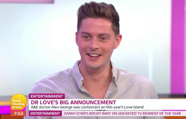 Love Island star Dr Alex George announces dream job on Good Morning Britain