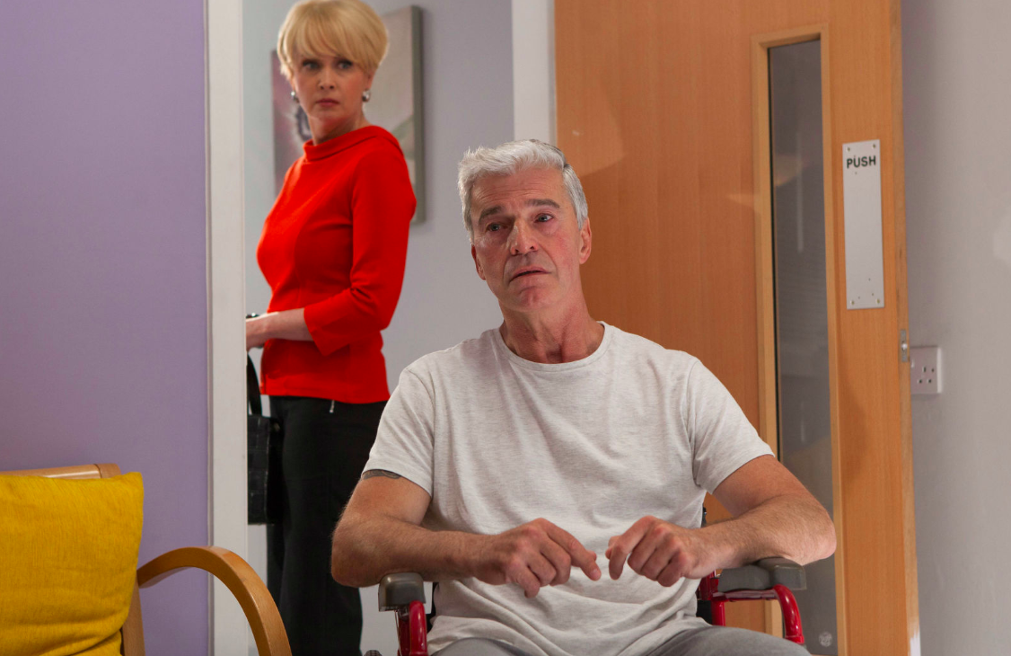 Hollyoaks terror as abuser Mac Nightingale makes a shock recovery