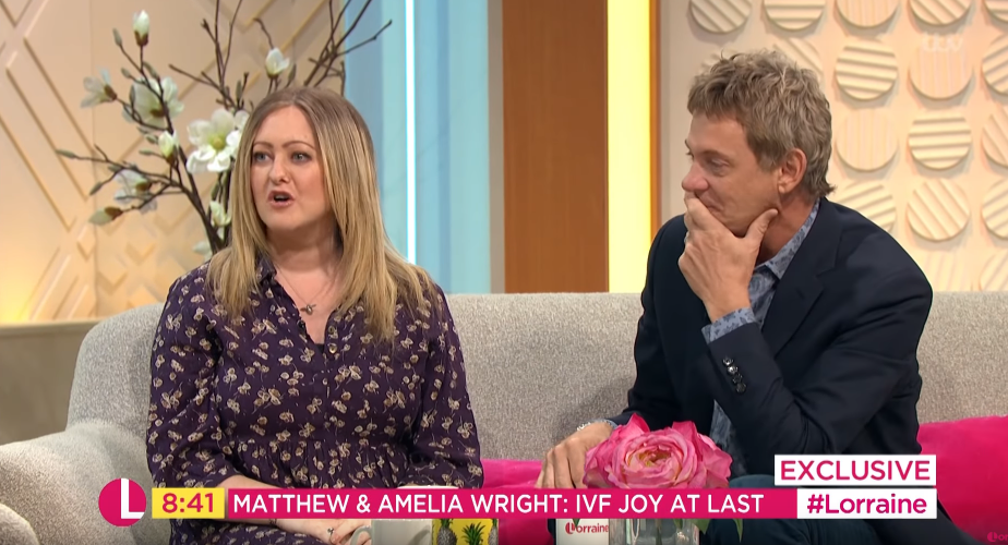 Matthew Wright becomes emotional after opening up about wife's IVF struggle